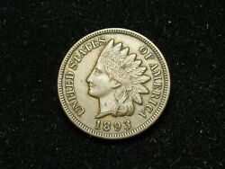 New Inventory Coin Au 1893 Indian Head Cent Penny Full Liberty And Diamonds 152h