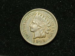New Inventory Coin Au 1893 Indian Head Cent Penny Full Liberty And Diamonds 151h