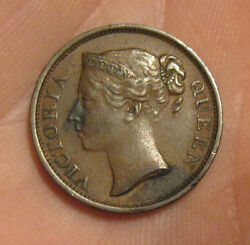 Straits Settlements - 1845 Copper Half Cent - Nice Coin