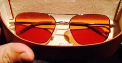 NEW Oliver peoples Victory 55 Burn Notice Michael Weston Cognac Lenses VFX