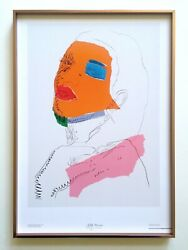 Andy Warhol Rare Litho Print Framed Italy Exhbt Poster Ladies And Gentlemen 1975