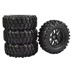 4pcs 12mm Hub Wheel Rubber Tires Od-96mm For Rc 1/10 Off-road Car Buggy Crawler