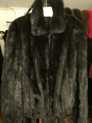 Chicago Fur Mart Size M.brand New W/tags Classic Ranch Mink Bomber Jkt.4500.00