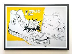 Andy Warhol Foundation Framed Pop Art Poster Print Converse Xtra Special 1985
