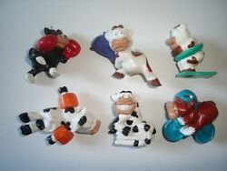 Borgmann Sporty Cows Figurines Set Germany - Figures Miniatures Collectibles