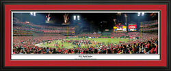 St Louis Cardinals 2011 World Series Deluxe Panoramic Picture Matted And Framed