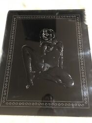 """Acrylic Clear Cast Hand Carved Very Sexy 20""""x24""""x1/2"""" Hang On Wall Only One New"""