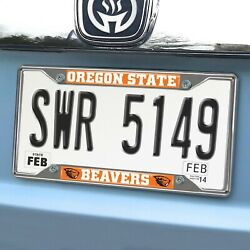 Oregon State Beavers EZ View Chrome Metal License Plate Frame