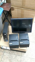 Touchscreen 15 All In One Pos System Restaurant Point Of Sale 2 Printers