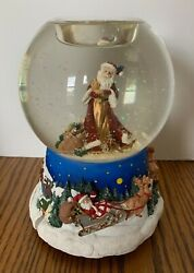 Partylite Father Christmas Musical Tealight Globe We Wish You Merry Christmas