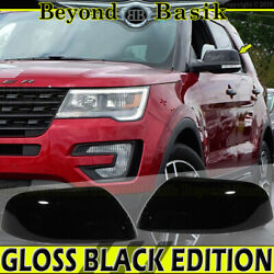 2016 2017 2018 2019 Ford Explorer Gloss Black Mirror Covers Overlays Top Half