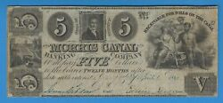 1841 Morris Canal Banking Company New Jersey 5 Five Dollars Obsolete Note