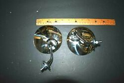 4 Pair Classic Mgcobra British Gt Style Fender Or Door Mounted Chrome Mirror