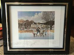 2006 Olympic Gold Woman's Hockey Team Signed Framed Litho Best Offer