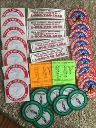 Vintage Lot Of 30 Coal Miner Mining Hard Hat Stickers, Oldies Lot S