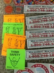 Vintage Lot Of 28 Coal Miner Mining Hard Hat Stickers, Oldies Lot R