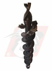 Auger Bit 6 Diameter For Dirt And Clay Fits 2 Hex Auger For Bobcat Machines
