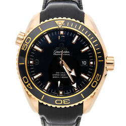 Omega Seamaster Planet Ocean 600m Rose Gold Auto Mens Watch 232.63.46.21.01.001