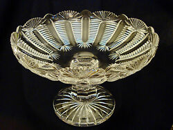 Waterford Crystal Compote Centerpiece Cut Glass Master Cutter Signed Twice