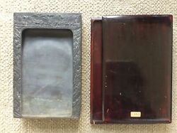 Chinese Old Duan Ink Stone 端渓硯 / W 25.1[cm] Plate Pot Qing Yuan Song