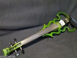 Newly Style Solid Wood Carved Dragon Scroll Green 15 Electric Viola E-viola