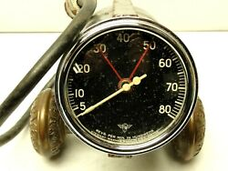 1950and039s Vintage Wings Curved Glass Stewart Warner Electrical Tachometer 8k Rpm