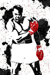 Muhammad Ali Boxer Art Wall Indoor Room Outdoor Poster POSTER 24x36