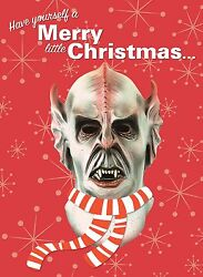 Alien Monster Mask Christmas Greeting Card Distortions Unlimited Silarian Rare