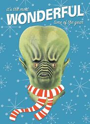 Alien Monster Mask Christmas Greeting Card Distortions Unlimited Andromeda Rare