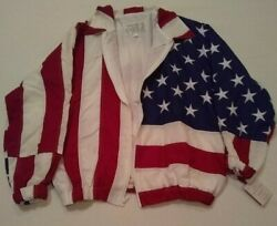 Limited Edition Ltd Usa Flag Coat Jacket Mens Womens Size S 1993 New W/ Tags