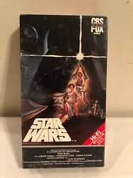 Vhs Star Wars 1987 Cbs/fox Original Release Before Added Footage. Rare, Collect