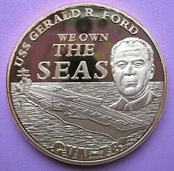 Us Challenge Coin Department Of The Navy - Uss Gerald R Ford Uncirculated