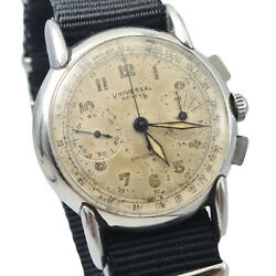 Very Early Universal Geneve Uni-compax Cal. 283 Ref.22265 1942 Millitary