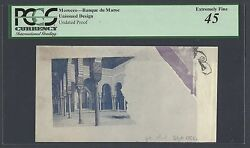 Morocco - Banque De Maroc Unissued Design Undated Proof Extremely Fine