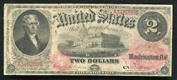 """Fr. 45 1875 2 Legal Tender United States Note Series """"a"""" 30 Known Rare"""