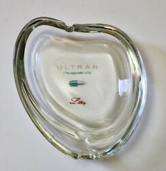 Lilly Ultran Vintage Pharmaceutical Advertising Paper Weight Kidney Shape Glass