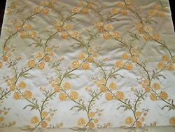 Beacon Hill Rose Queen Embroidered Silk Damask Fabric 10 Yards Oyster Gold