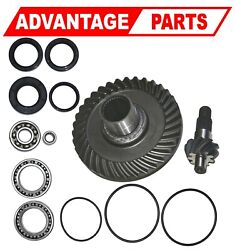 Honda Fourtrax Trx300fw Rear Differential Ring Pinion Gear And Bearing 41310-hc4-3