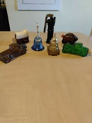 Vintage Avon Perfume/cologne Bottles Lot Of 7 Collectibles Colored Glassware