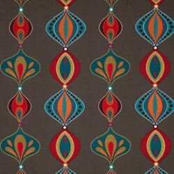 Lee Jofa Kravet Embroidered Moroccan Medallions Fabric 10 Yards Brown Spice