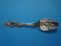 Lily By Whiting Sterling Silver Berry Spoon W/ Hand Chased Bowl And Monogram 8733