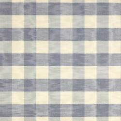 Colefax And Fowler French Country Checks Moire Fabric 10 Yards Vintage Blue