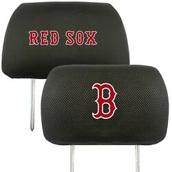Boston Red Sox 2-pack Auto Car Truck Embroidered Headrest Covers