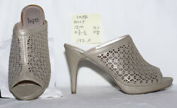 "size 12 m Impo HOLLY pewter mule with a 4-38"" stiletto heel NEW - 192x"