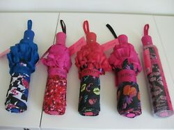 BETSEY JOHNSON Umbrella Auto Open 43in NWT CHOOSE FROM 5 DESIGNS
