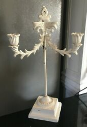 Very Rare Wilton Cast Iron 2 Light Candlestick Holder Wall Hanging Sconce /stand