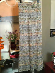 Missoni Size 42 Brown And Gold Knit Wide Leg Pants 2400-377-11820