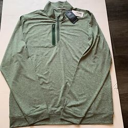 Cutter And Buck Mens L/s Drytec Jersey Stealth Half Zip Pullover Sz L Brand New