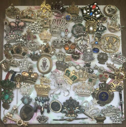 Wow Beautiful Crown Brooch/pin Collection 85 Pieces Coro Weiss Trifari And More