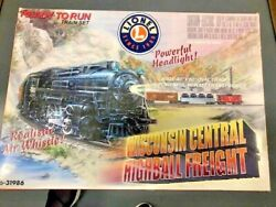 Rare New In Box Lionel Train Wisconsin Central Highball Freight Set 6-31986 O